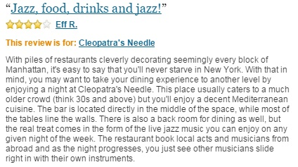 Cleopatra's Needle Judysbook Review